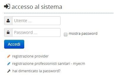 My Ecm Accesso utente e password
